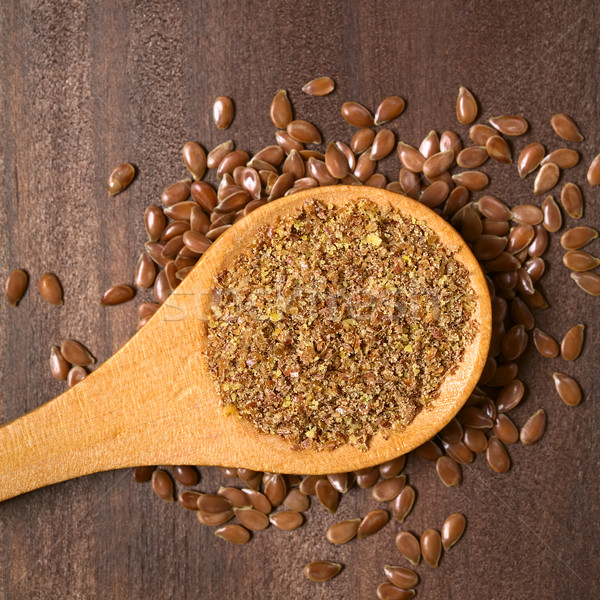 Ground Brown Flax Seed or Linseed Stock photo © ildi