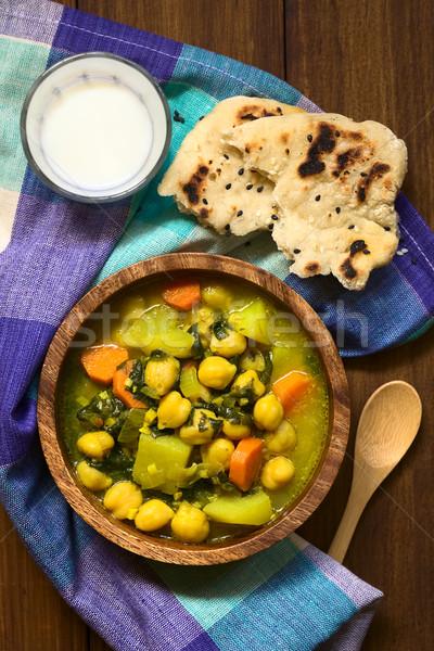 Chickpea Curry Stock photo © ildi