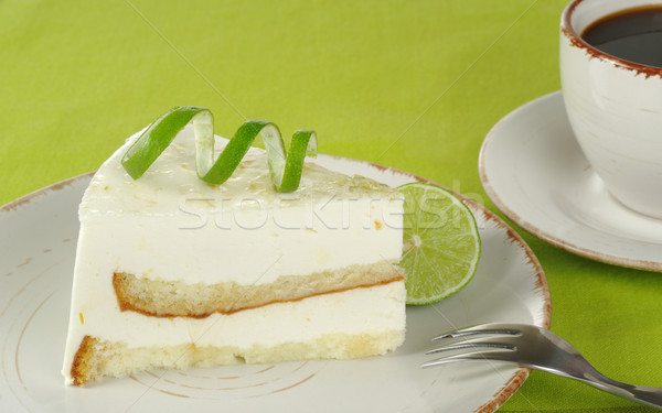 Lime Cake with Coffee Stock photo © ildi