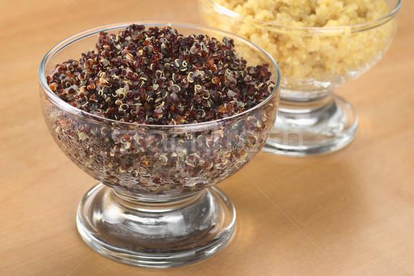 Cooked Red and White Quinoa Stock photo © ildi