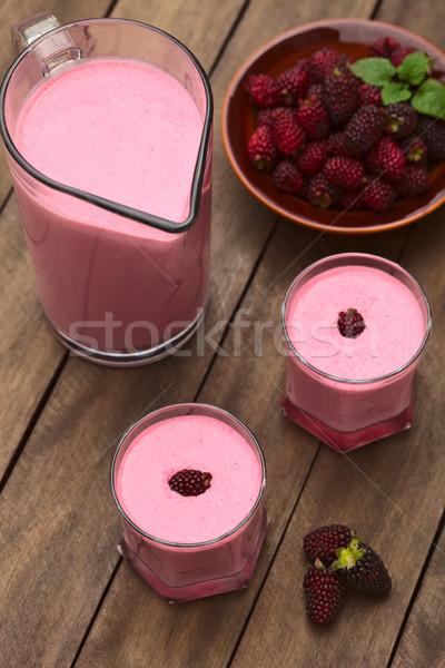 Blackberry Milkshake Stock photo © ildi