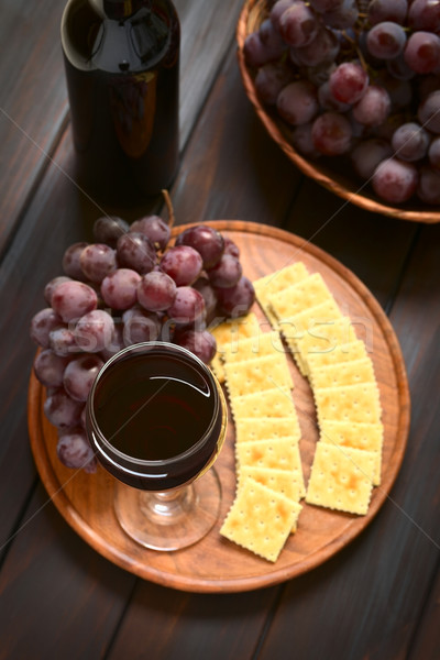 стекла виноград красный мира винограда Сток-фото © ildi