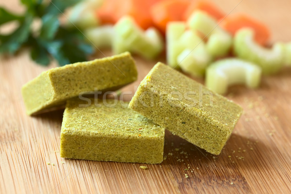Vegetable Bouillon, Stock or Broth Cubes Stock photo © ildi