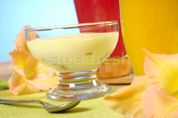 Cream Cheese Dessert with Smoothies Stock photo © ildi