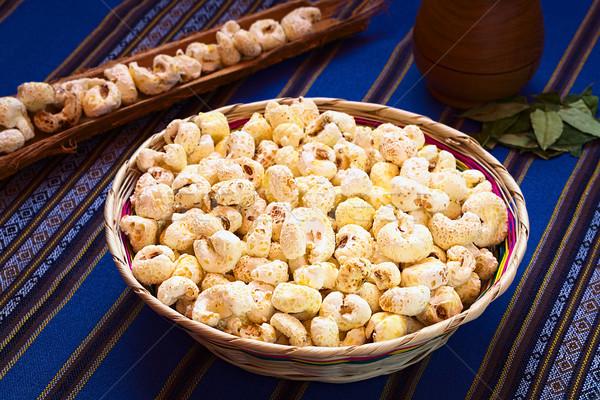 Sweetened Popped White Corn  Stock photo © ildi