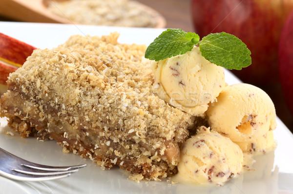Apple Crisp with Ice-Cream Stock photo © ildi