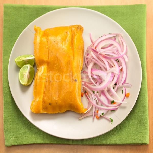 Peruvian Tamale Stock photo © ildi