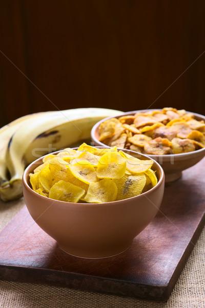 Stock fotó: Sós · édes · sültkrumpli · tálak · elöl · hát