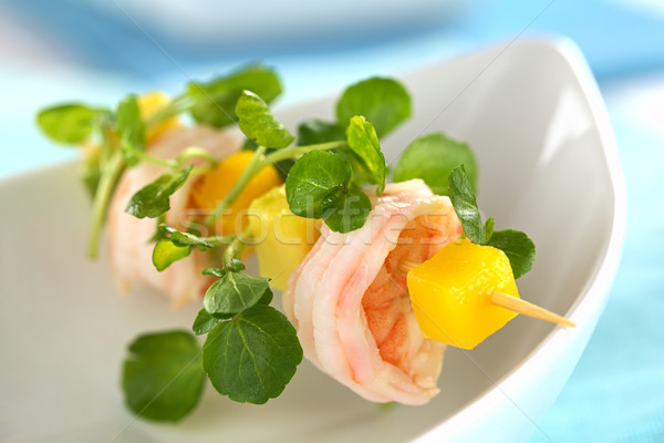 Shrimp with Watercress, Mango and Avocado Stock photo © ildi