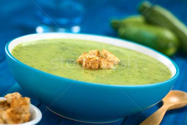 Cream of Zucchini Stock photo © ildi