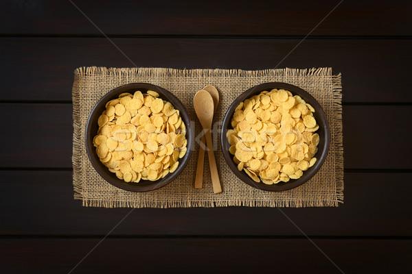 朝食用シリアル ぱりぱり 素朴な ボウル 小 ストックフォト © ildi