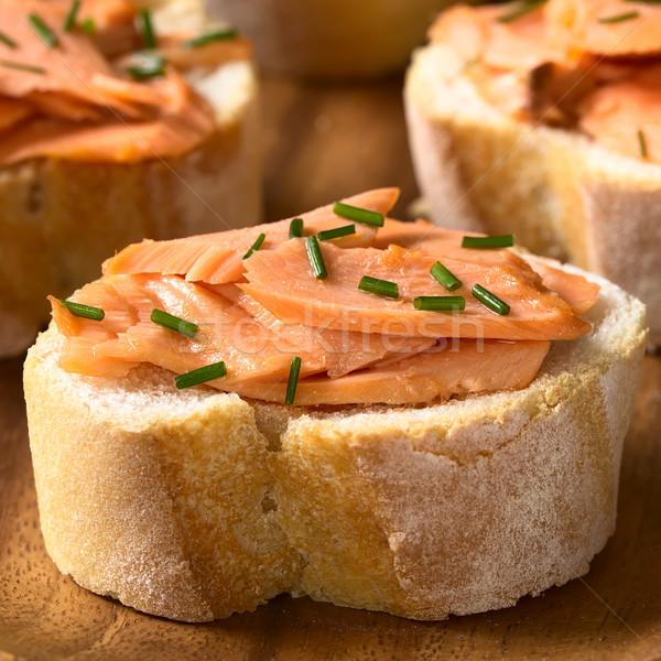 サンドイッチ サンドイッチ チャイブ 自然光 選択フォーカス ストックフォト © ildi