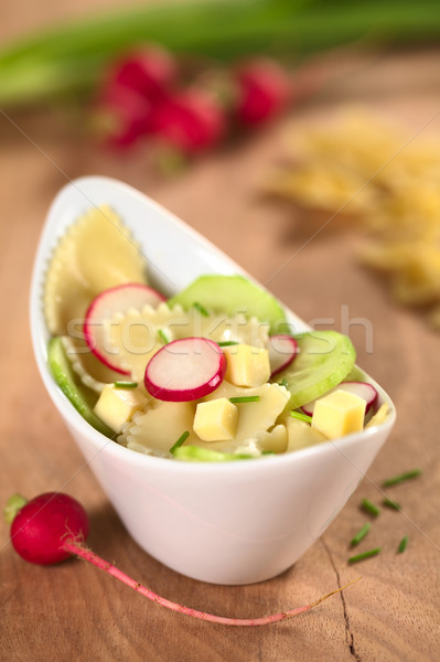 Bow Tie Pasta Salad with Cucumber and Radish Stock photo © ildi