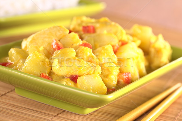 咖哩 印度 菜 紅色 商業照片 © ildi