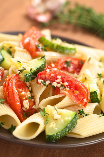 Pasta with Zucchini and Tomato Stock photo © ildi