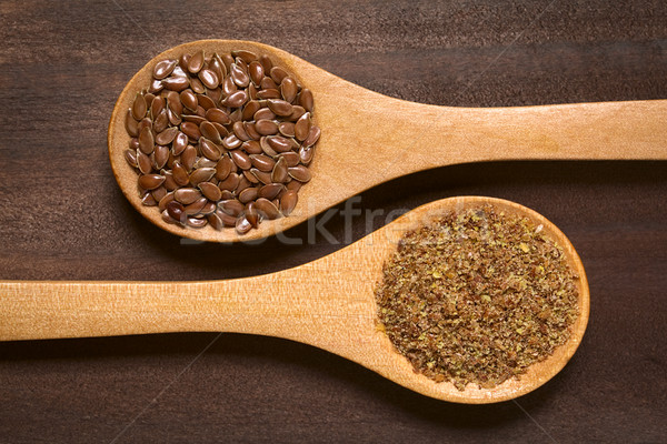Brown Flax Seeds or Linseeds Stock photo © ildi