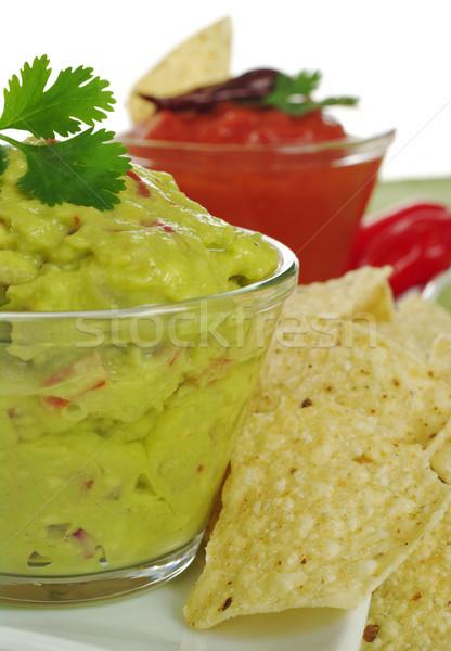 Guacamole with Tacos Stock photo © ildi