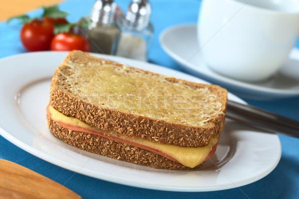 Pane sandwich prosciutto formaggio formaggio grattugiato Foto d'archivio © ildi