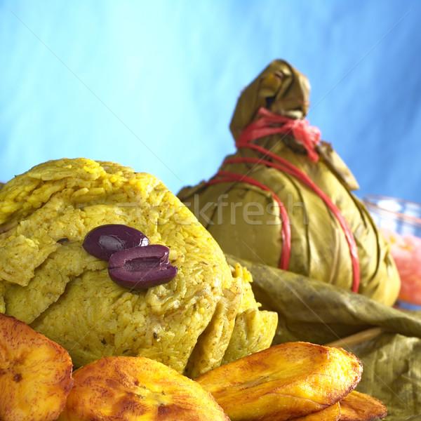Traditional Peruvian Food Called Juane Stock photo © ildi