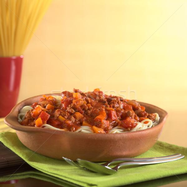 Spaghetti Bolognaise Stock photo © ildi