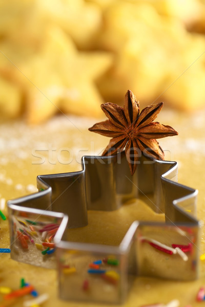 Star anijs kerstboom cookie cookies Stockfoto © ildi