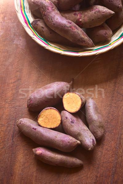 Viola patata dolce shot greggio la luce naturale Foto d'archivio © ildi
