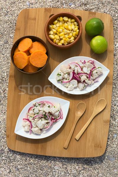 Peruvian Ceviche Stock photo © ildi