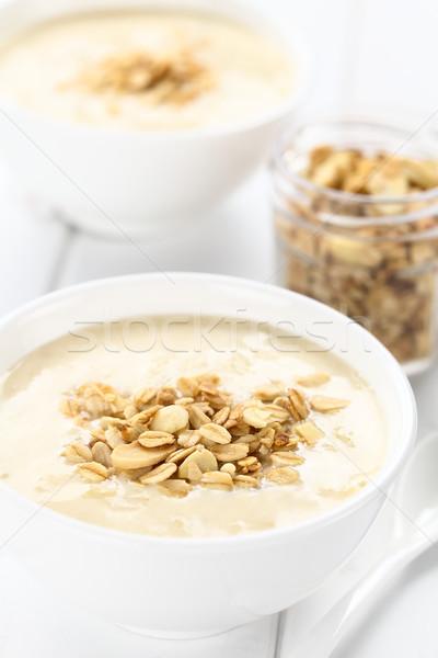Ruibarbo iogurte sobremesa granola frio Foto stock © ildi