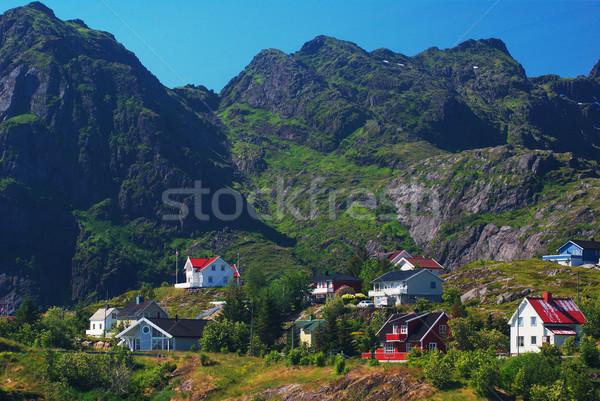 Settlement on the Lofoten Islands Stock photo © ildi