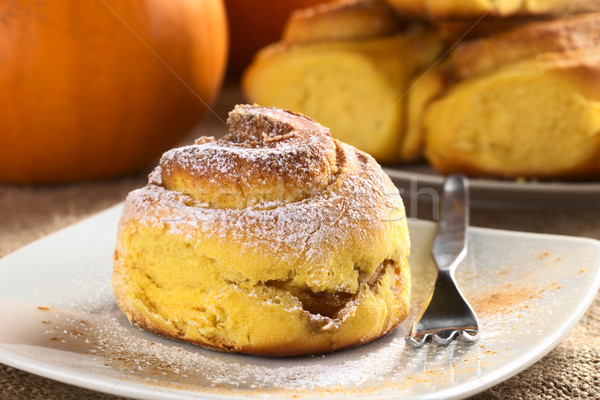 Stock photo: Pumpkin Cinnamon Roll
