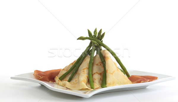 Crepes and Asparagus Tipi Stock photo © ildi