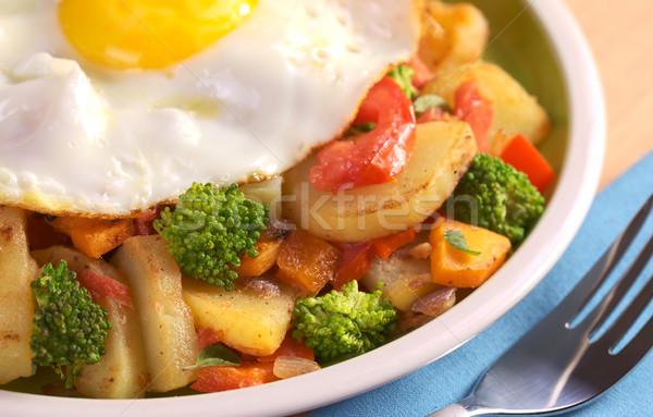 Foto d'archivio: Verdura · patate · pomodoro · broccoli