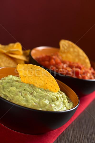 Guacamole with Nacho Stock photo © ildi