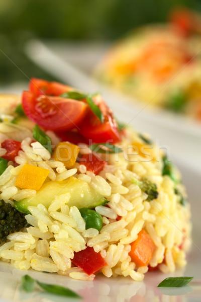Vegetal risotto foco foco baixar Foto stock © ildi