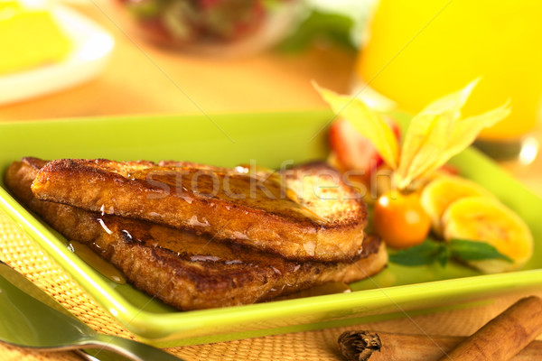 French Toast with Maple Syrup Stock photo © ildi