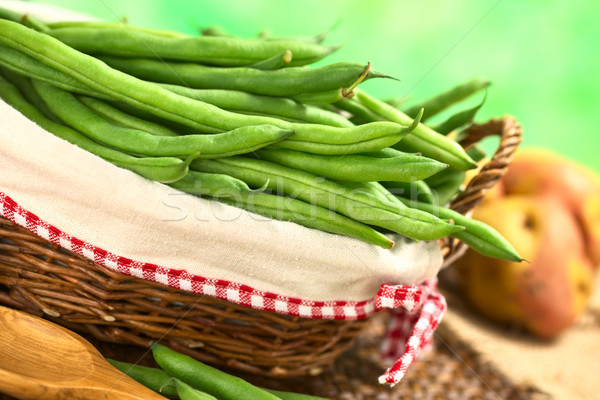 Green Beans in Basket Stock photo © ildi