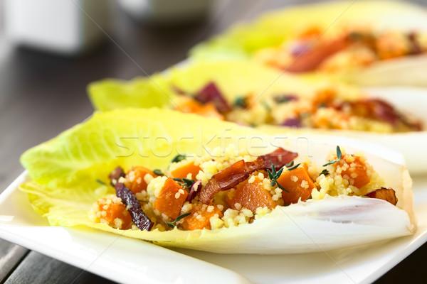 Abóbora couscous salada folhas bacon Foto stock © ildi