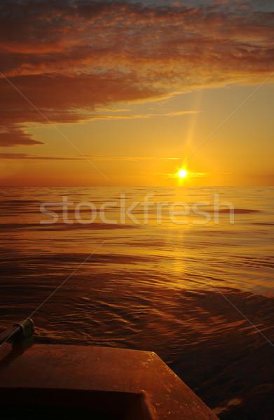 Boat at Sunset Stock photo © ildi