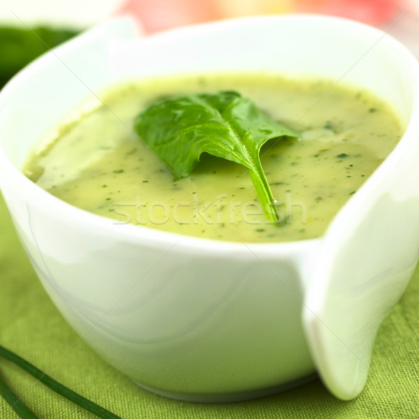 Spinach Cream Soup Stock photo © ildi