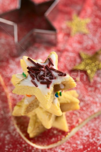 Star-Shaped Cookie with Chocolate Sprinkles Stock photo © ildi