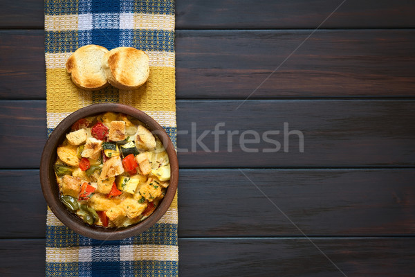 Segurelha vegetariano pão pudim tiro Foto stock © ildi