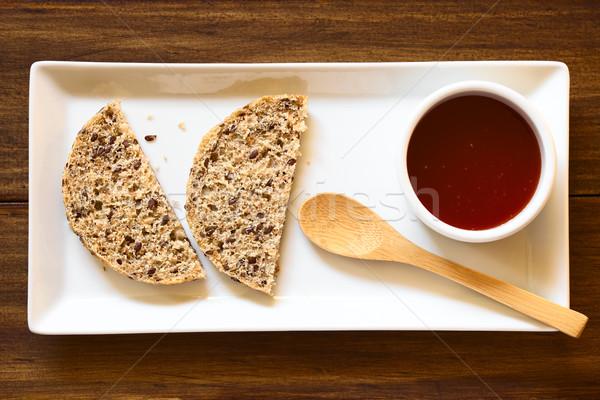 Rosa anca jam pane fatto in casa Foto d'archivio © ildi