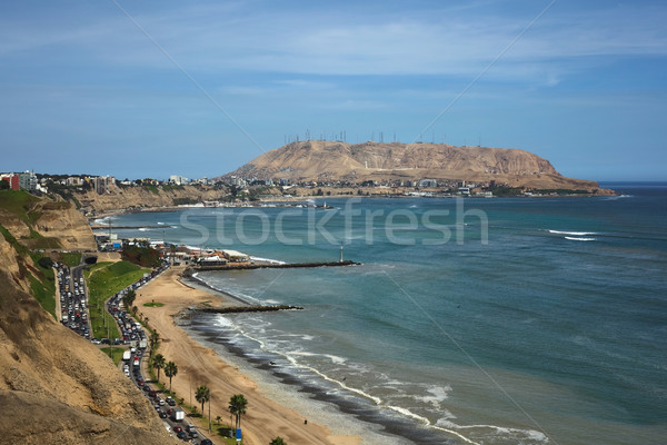The Southern Coast of Lima Stock photo © ildi