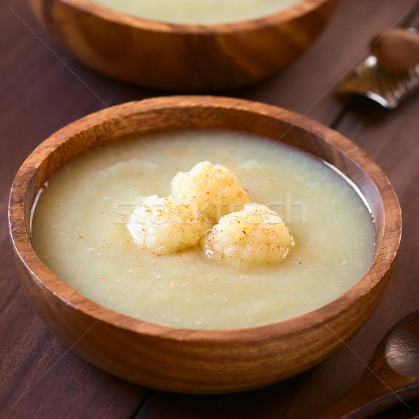Cream of Cauliflower Soup Stock photo © ildi