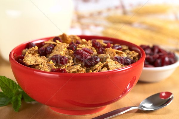 Wholewheat Cereal with Dried Cranberries Stock photo © ildi
