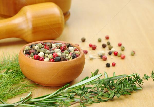 Pepper Corns Stock photo © ildi