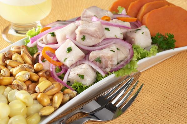 Peruvian-Style Ceviche  Stock photo © ildi