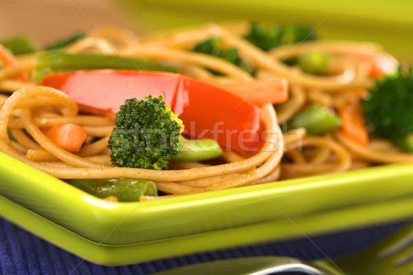 Vegetable Pasta Stir Fry Stock photo © ildi