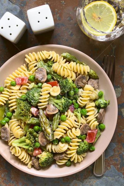 Сток-фото: пасты · зеленый · спаржа · брокколи · гриб · томатный