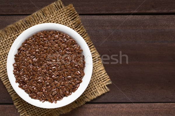 Brown Flax Seeds or Linseeds Stock photo © ildi